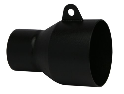 RBP RBP-5005 Clamp-on Truck Exhaust Tip Adapter 2.5 Inch Inlet to 4 Inch Outlet in Black for Custom ()