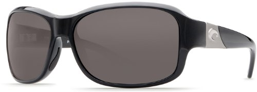 Costa Del Mar Sunglasses - Inlet- Glass / Frame: Black Lens: Polarized Gray Wave 580 Glass (Costa Del Wave Mar)
