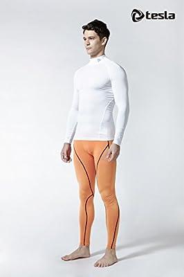 Tesla Men's Mock Long-Sleeved T-Shirt Cool Dry Compression Baselayer MUT72 / TUT102 / T11 / T12