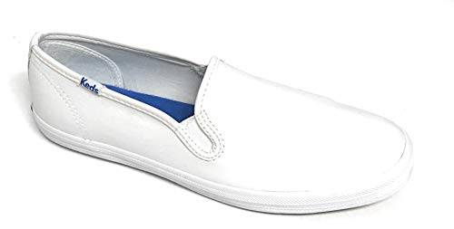 Keds Women's Champion Slip On Leather Sneaker, White Leather, 7 M US