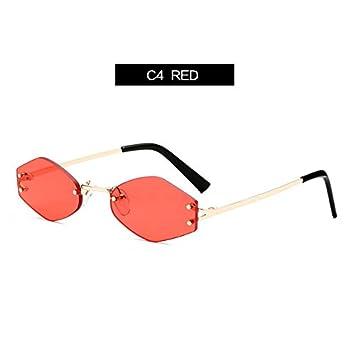 KLXEB Hexagonal Pequeña Mujer Gafas De Sol De Marca Gafas De ...