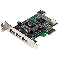 STARTECH.COM PEXUSB4DP / 4 Port PCI Express Low Profile High Speed USB Card