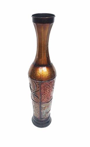 D'Lusso Designs TR3002 24 Inch Hally Set Metal Floor Vase (Ewer Floral)