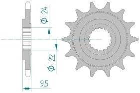 AFAM Ritzel Teilung 520 Z/ähne 12 f/ür Honda CRF 450 R ie Ma/ße Welle: 22//24mm 2011 Bj H/öhe//Versatz: 9,5mm