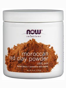 Foods Red Clay Powder - NOW Red Clay Powder Moroccan, 6-Ounce (Pack of 2)