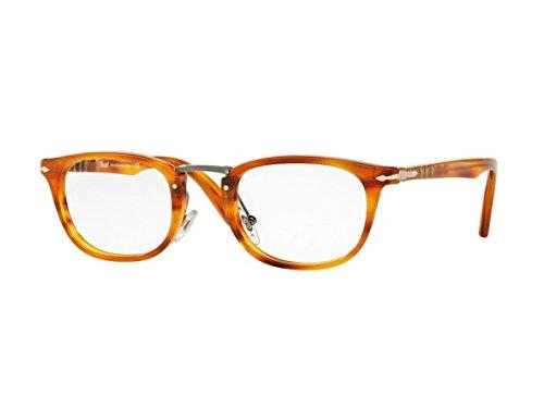 PERSOL Eyeglasses PO 3126V 960 Stripped Brown - Persol Luxottica
