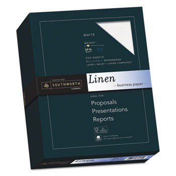 (Southworth 25% Cotton Linen Business Paper, 24lb, 91 Bright, 8 1/2 X 11, 500 Sheets)