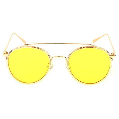 Hommes Soleil Color Sakuldes UV400 Lunettes de Gold 100 Yellow Lens pour Lens Gold Frame Yellow Lentilles polarisées Frame nqYRxq84