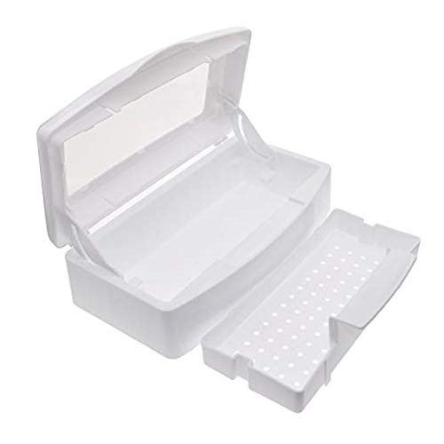 Vastitude Nail Sterilization Box Alcohol Plastic Disinfection Nail Tray Easy Cleaner Sterilizator For Cutter Manicure Tools Set