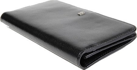 Old Leather Clutch Color: Black by Bosca