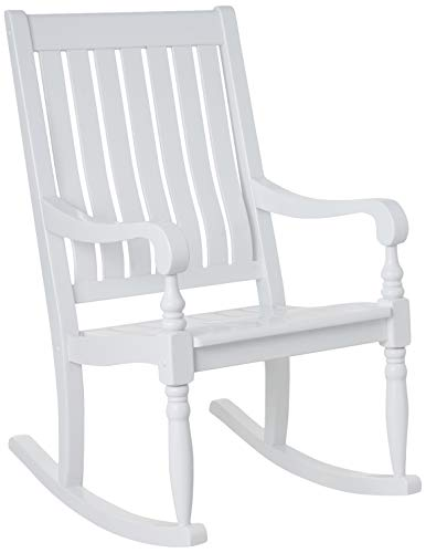 - Cambridge-Casual AMZ-130826WH Thames Rocking Chair, White