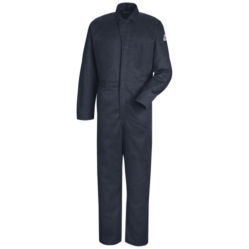 Bulwark Men's Flame Resistant 4.5 oz Nomex IIIA Classic Coverall with Hemmed Sleeves, Navy, 54 ()