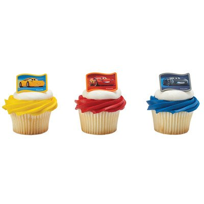 Cars 3 Nex-Gen Racers Cupcake Rings - 24 pc