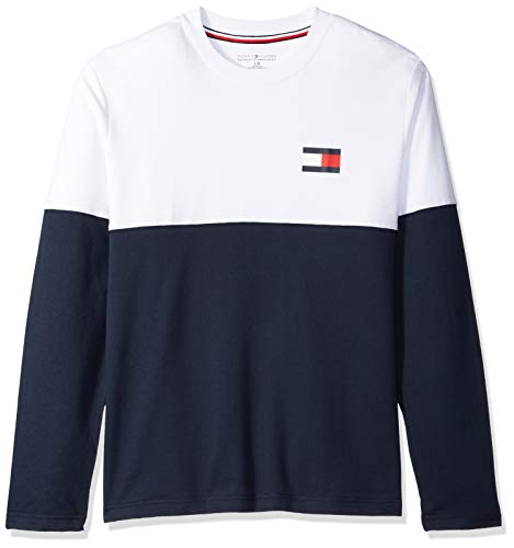 Modern Essentials French Terry Long Sleeve Crew Neck, Dark Navy, XL ()