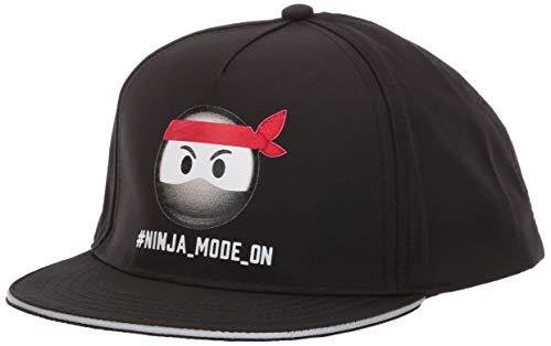 The Children's Place Boys' Big Ninja Emoji Hat, Black, S/M(4-7YR) (Hat Ninja)