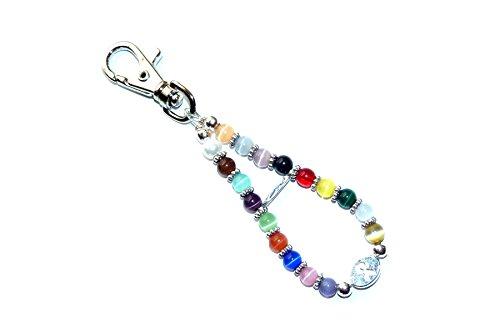 Hidden Hollow Beads Cancer awareness multi key chain. 5