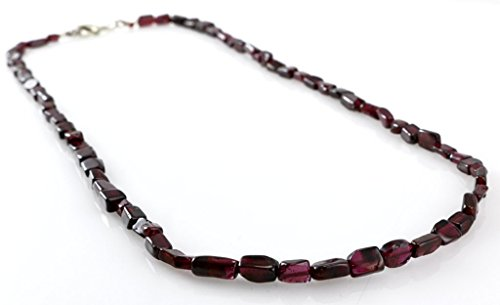 Pomegranate Red Garnet Root Chakra Gemstone January Birthstone Faceted Beads Necklace 17-18''
