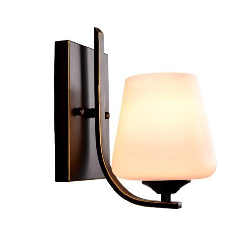 - Meteor European Style Retro Wall Light Modern Minimalist Wrought Iron Wall Lamp Bedside Lamp Living Room Dining Room Corridor Lighting Wall Sconce Matt Black E27 Lamp Holder