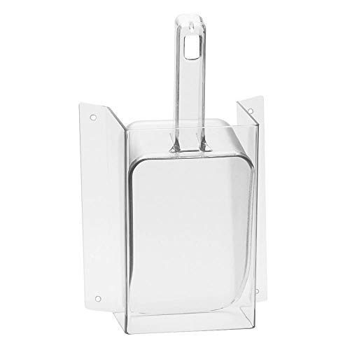 (Cal-Mil 1031-32 Wall Mount Scoop Guard w/ 32-oz Scoop, Clear)