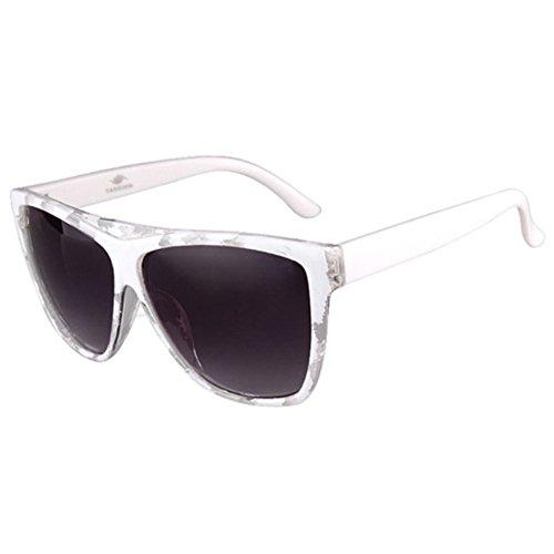 Sinkfish SG80010 Sunglasses for Women,Retro Sunshades - UV400/White Frames/Black - Uv400 Sports Sunglasses Ozzie