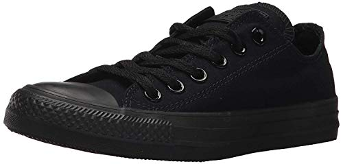 Converse Unisex Chuck Taylor All Star Low Top Monochrome Black Sneakers - 9.5 D(M) US Men / 11.5 B(M) US Women