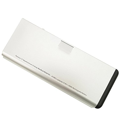 YTech A1280 High Replacement Battery for Apple MacBook 13-Inch 1278 A1280 Aluminum Unibody [2008 Version] MB771LL/A MB467LL/A MB466LL/A [Li-Polymer 6-Cell 45Wh]