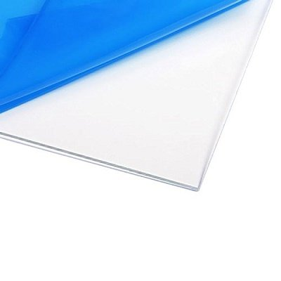 Source One LLC 3/8 th Inch Thick 12 x 12 Inches Acrylic Plexiglass Sheet, Clear HEAVY DUTY (12'' X 12'')