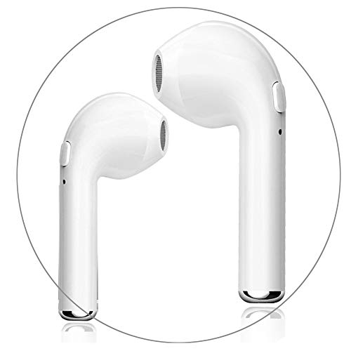 Wireless Headphones, Bluetooth Earbuds Stereo In-Ear Earpieces with 2 Built-in Mic Earphone for iPhone X 8 8plus 7 7plus 6S Samsung Galaxy S7 S8 IOS Android Smart Phones by VVENNA