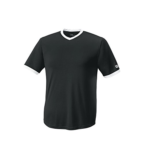 Wilson Unisex S303 Performance V-Neck Tech Tee - Youth, Black, Youth Small