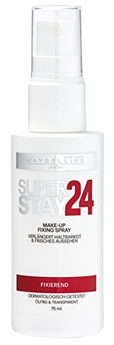 Maybelline New York Superstay 24H Make-Up Fixing Spray Transparent / Farbloses Schminke Fixierspray für ein noch länger anhaltendes Make Up, 1 x 75 ml
