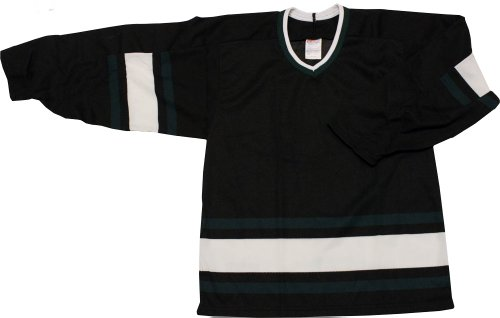 MENS HOCKEY JERSEY CCM Stars Black/Green/White (DARK) size SMALL