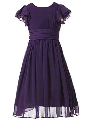 Happy Rose Flower Girl's Dress Prom Party Dresses Bridesmaid Dress Purple 5]()
