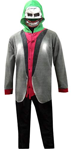 Underboss Men's The Joker Suicide Squad Onesie Pajama with Drop Seat (X-Large) Gray]()