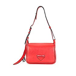 Prada Medium Leather Shoulder Bag Red