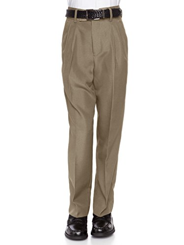 RGM 100% Dacron, Pleated Front, Boys Dress Slacks Tan 7 (Bose Church Speakers)