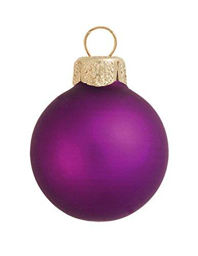 28ct Matte Soft Grape Purple Glass Ball Christmas Ornaments 2