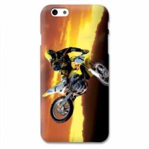 Amazon.com: Case Carcasa Iphone 6 / 6s Moto - - cross noir ...