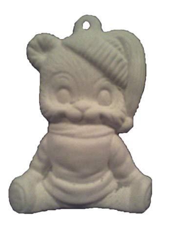Ceramic Bisque Teddy Bear - Teddy Bear in sweater 3