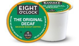 Eight O'Clock Coffee The Original Decaf, Single Serve Coffee K-Cup Pod, Medium Roast, 96