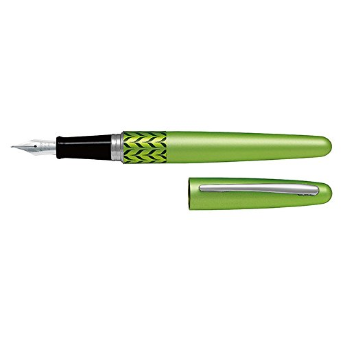(Pilot Metropolitan Fountain Pen, Retro Pop Green, 1.0mm Stub nib)