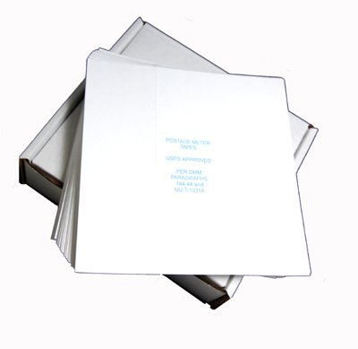 Pinwheel Postage Meter Tapes~Made in USA~ USPS Approved~Compatible with Pitney Bowes, Hasler, Neopost and Francotyp Postalia. 600 Tapes in Strong, Easy-feed Box. by Discount Supply Company