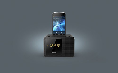 Philips Black Dual Alarm Bluetooth Clock Radio