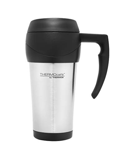 THERMOcafe Stainless Steel Outer Foam Insulated Travel Mug, 450ml, Stainless Steel, DF4000SS