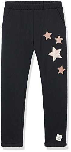 Kid Nation Girls French Terry Embroidery Ankle Crop Pants for Boys and Girls Black XS