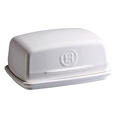 Emile Henry Made In France Flour Butter Dish