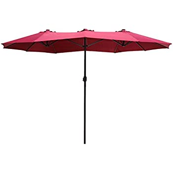 Awesome Le Papillon 14 Ft Market Outdoor Umbrella Double Sided Aluminum Table Patio  Umbrella With Crank
