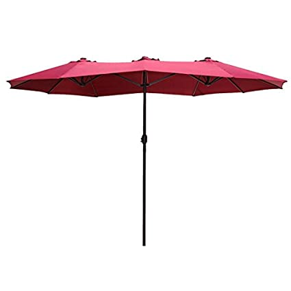Lovely Le Papillon 14 Ft Market Outdoor Umbrella Double Sided Aluminum Table Patio  Umbrella With Crank