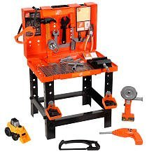 home depot kids toy workbench deluxe carrying case work bench. Black Bedroom Furniture Sets. Home Design Ideas