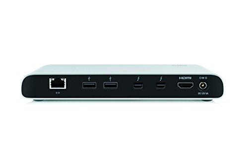 Elgato Thunderbolt 2 Dock with 50 cm Thunderbolt cable, 20Gb/s, 4K support, 2x Thunderbolt 2, 3x USB 3.0, audio input and output, Gigabit Ethernet, aluminum chassis by Elgato (Image #1)