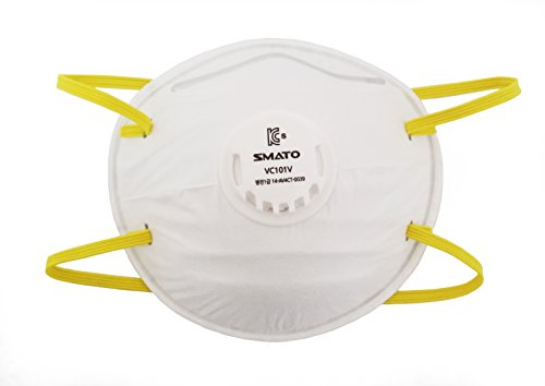 Sixtools N95 Approved Face Safety Breathing Respiratory with Valve N-95 Particle Dust Masks 10-Pack -  SMATO, VC101V
